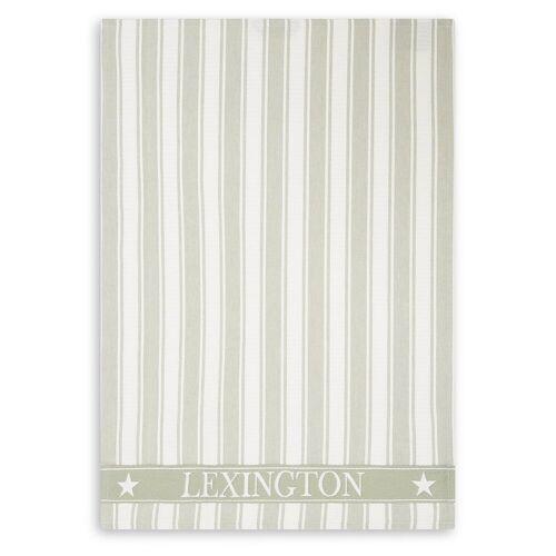 Lexington Icons Waffle Striped Geschirrtuch 50 x 70cm Sage green-white