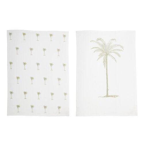 Bloomingville Palm Geschirrtuch 2er Pack 50 x 70cm