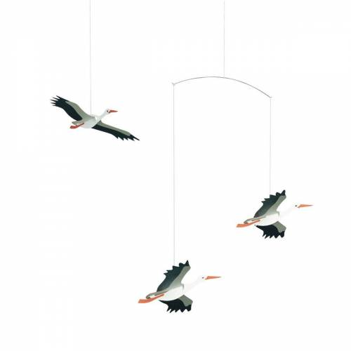 Flensted Mobiles Lucky storks Mobile multi
