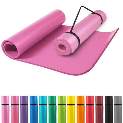 Gorilla Sports Yogamatte Pink 190 x 100 x 1,5 cm