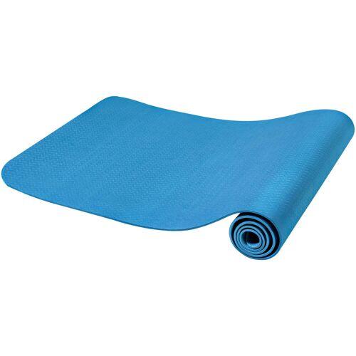 Gorilla Sports Yogamatte Dünn Blau 10 mm