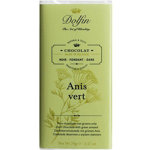 Dolfin Schokolade 51% mit grünem Anis, 70 g