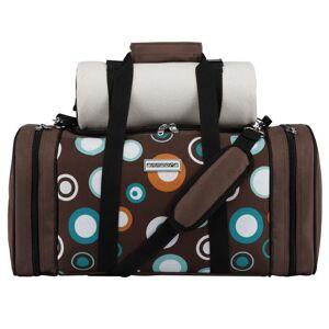 ANNDORA SHOPPING-WELTEN anndora Pichnicktasche Kühltasche für 4 Personen braun hellblau inkl. Zubehör -    braun/hellblau
