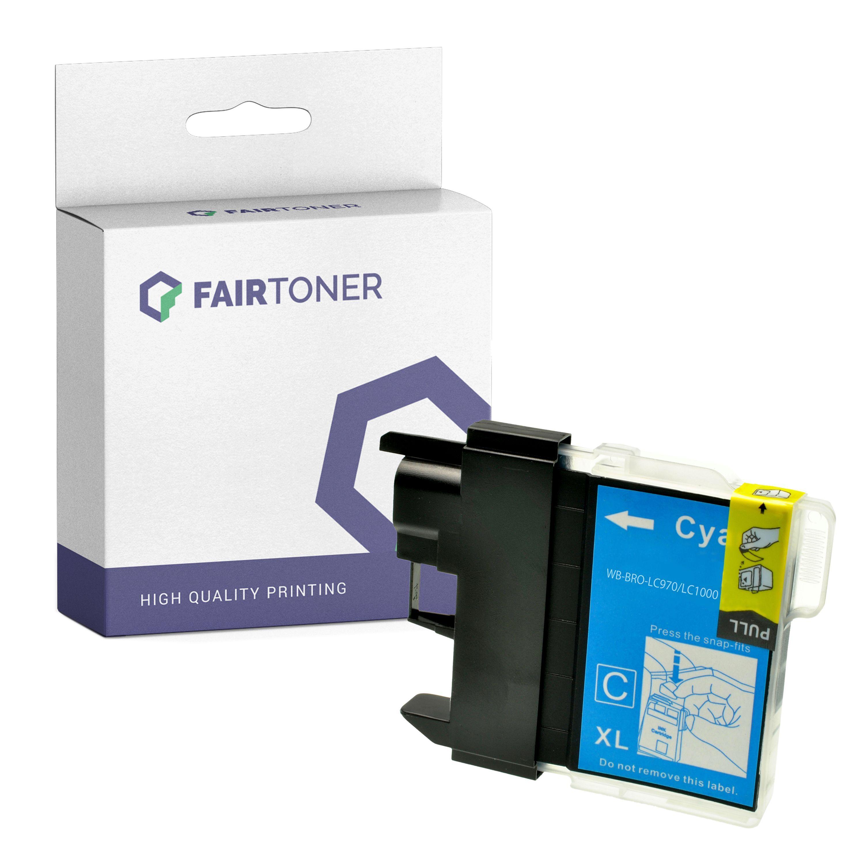 FairToner Kompatibel zu Brother DCP-330 Series (LC-1000C) Druckerpatrone Cyan