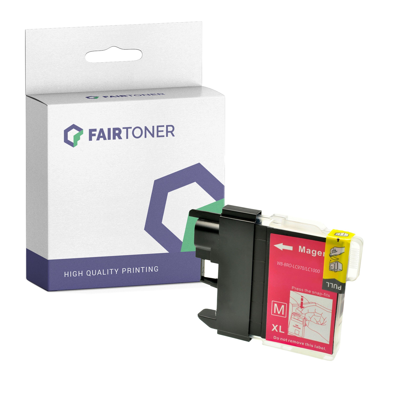 FairToner Kompatibel zu Brother DCP-530 Series (LC-1000M) Druckerpatrone Magenta