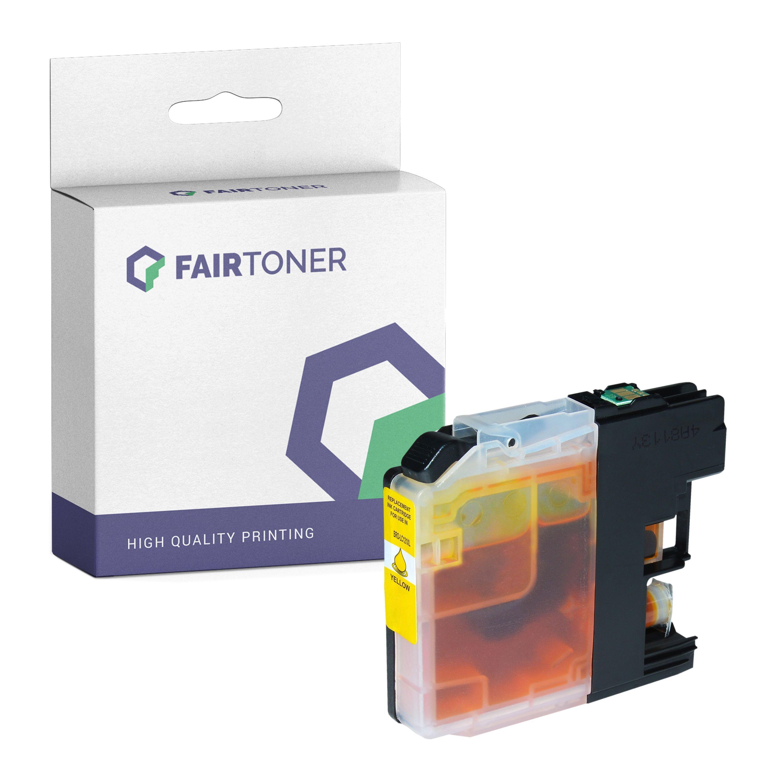 FairToner Kompatibel zu Brother MFC-J 245 (LC-121Y) Druckerpatrone Gelb