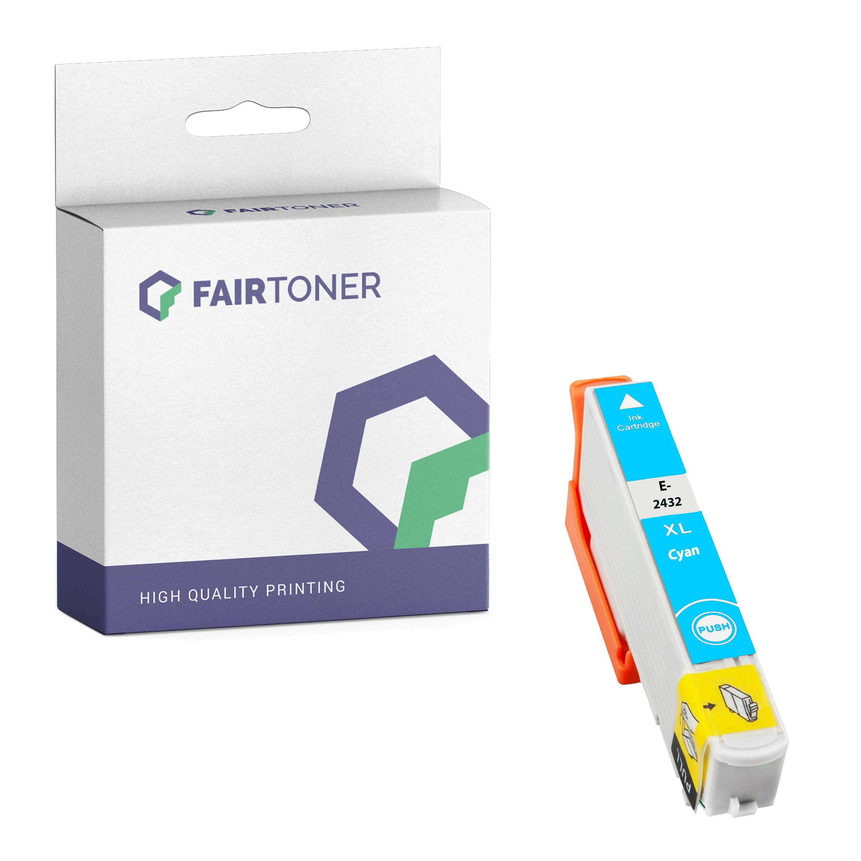 FairToner Kompatibel zu Epson Expression Photo XP-760 (C13T24324010 / 24XL) Druckerpatrone Cyan