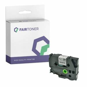 FairToner Kompatibel zu Brother P-Touch 3600 (TZE-241) Schriftband 18mm/8m Schwarz auf Weiss
