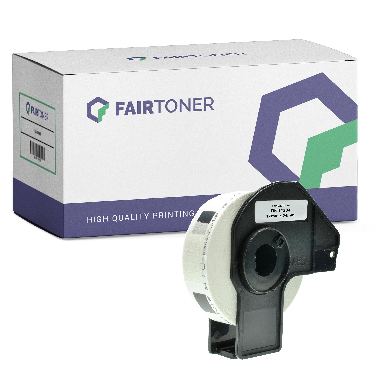 FairToner Kompatibel zu Brother P-Touch QL 580 Series (DK-11204) Etikett 400x (17mm x 54mm) Weiß