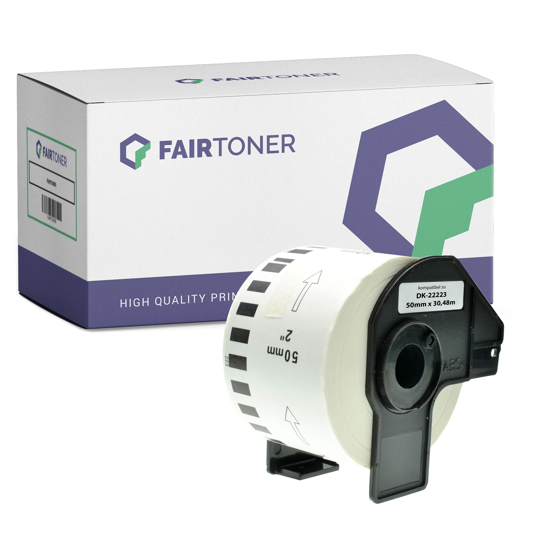 FairToner Kompatibel zu Brother P-Touch QL 1100 NWB (DK-22223) Etikett 1x (50mm x 30.48m) Weiß