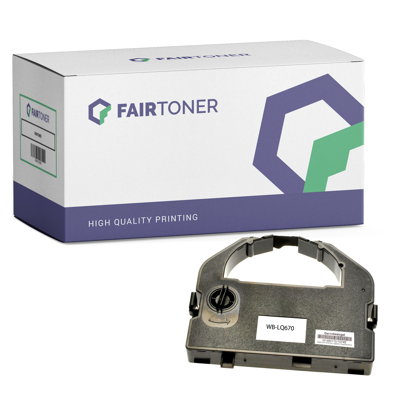 FairToner Kompatibel zu Epson LQ 1060 Plus (C13S015262 / 7762) Farbband Schwarz