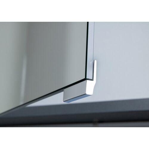 Intarbad Spiegelschrank Griff Chrom für Doppelspiegeltüren, Optionales Zubehör (3 Stück)