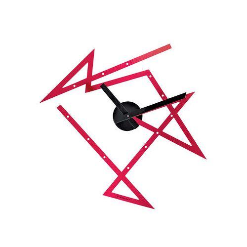 Alessi Time Maze Wanduhr / L 50 cm x H 47,5 cm - Alessi - Rot,Schwarz