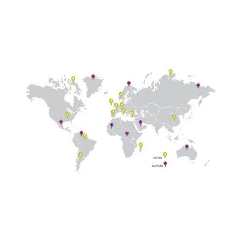 Domestic Traveller map Sticker - Domestic - Grau,Grün,Violett