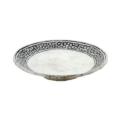 Serax Milieux de vos tables Schale / Ø 30 cm x H 8 cm - von Hand bemaltes Papier - Serax - Weiß,Schwarz