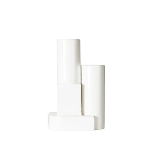 Tom Dixon Block Small Vase / H 26 cm - Tom Dixon - Weiß
