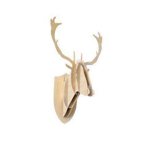 Moustache Trophäe H 70 cm - Moustache - Holz hell