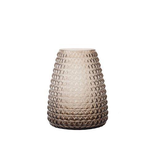 XL Boom Dim Vase / Vase - Ø 18 cm x H 22 cm - XL Boom - Rauchgrau