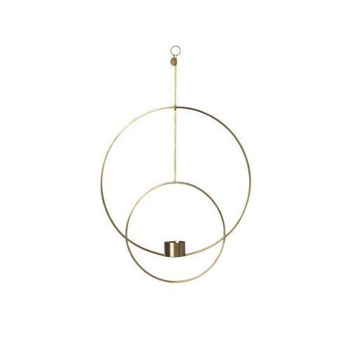 Ferm Living Circular Kerzenhalter zum Aufhängen / L 30 cm x H 45 cm - Ferm Living - Messing