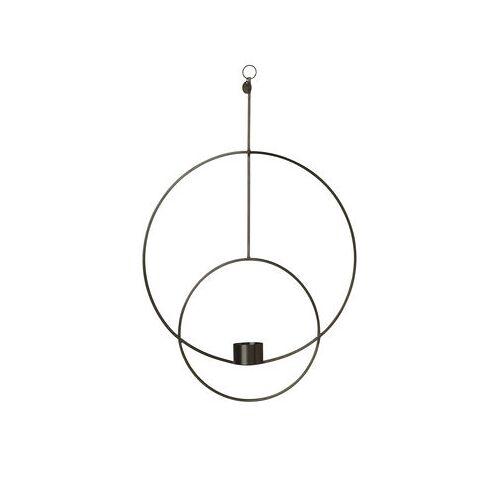 Ferm Living Circular Kerzenhalter zum Aufhängen / L 30 cm x H 45 cm - Ferm Living - Schwarz