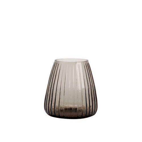 XL Boom Dim Vase / Vase - Ø 15 cm x H 16 cm - XL Boom - Rauchgrau