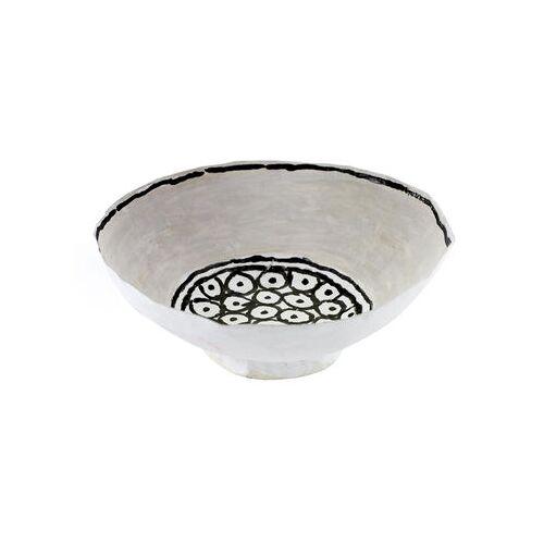 Serax Milieux de vos tables Schale / Ø 15,5 cm x H 5,5 cm - von Hand bemaltes Papier - Serax - Weiß,Schwarz