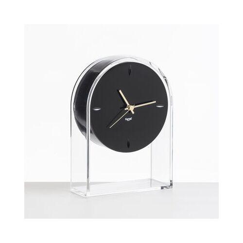 Kartell L'Air du temps Standuhr / H 30 cm - Kartell - Schwarz,Kristall,Gold