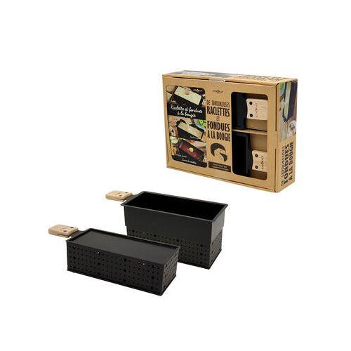 Cookut Lumi Set / Für Raclette & Fondue mit Kerzen - 2 Personen - Cookut - Schwarz