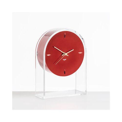 Kartell L'Air du temps Standuhr / H 30 cm - Kartell - Rot,Kristall,Gold