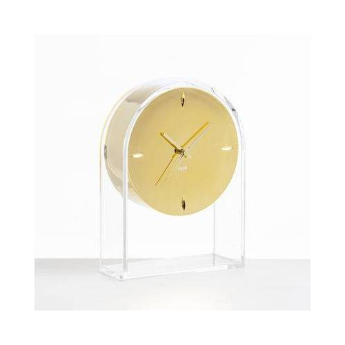 Kartell L'Air du temps Standuhr / H 30 cm - Kartell - Gold,Kristall