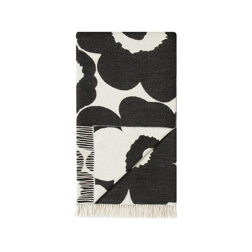 Marimekko Unikko Plaid / 130 x 180 cm - Marimekko - Weiß,Schwarz