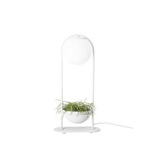 Bloomingville Tischleuchte / mit Blumentopf - Ø 15 cm - Bloomingville - Weiß