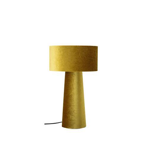 Bloomingville Tischleuchte / Samt - H 50 cm - Bloomingville - Goldgelb