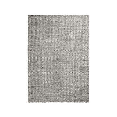 Hay Moiré Kelim Large Teppich / handgeknüpft - 300 x 200 cm - Hay - Weiß,Grau