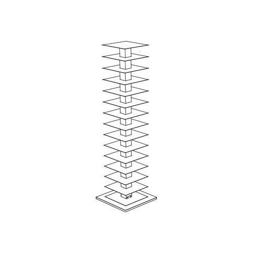 Opinion Ciatti Ptolomeo Drehbares Bücherregal 4 Seiten - für liegende Bücher - Opinion Ciatti - Weiß
