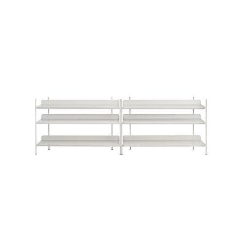 Muuto Compile Regal / Metall - L 245 cm x H 78 cm - Muuto - Grau