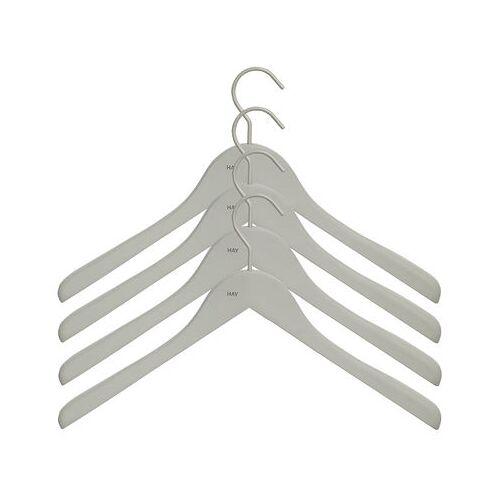 Hay Soft Coat Kleiderbügel breit / 4er-Set - Hay - Grau