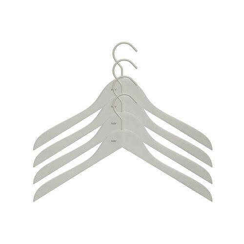 Hay Soft Coat Kleiderbügel schmal / 4er-Set - Hay - Grau