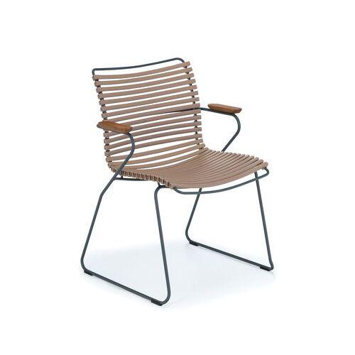 Houe Click Sessel / Kunststoff & Bambus - Houe - Sand