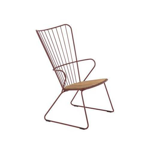 Houe Paon Lounge Sessel / Metall & Bambus - Houe - Paprika,Bambus Natur
