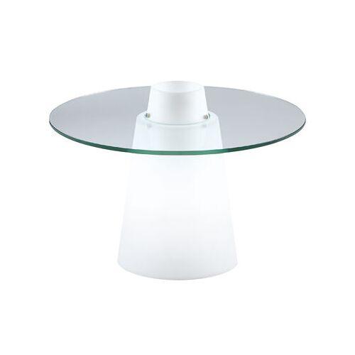 Slide Peak beleuchteter Coutchtisch / Ø 70 cm x H 50 cm - Slide - Weiß,Transparent