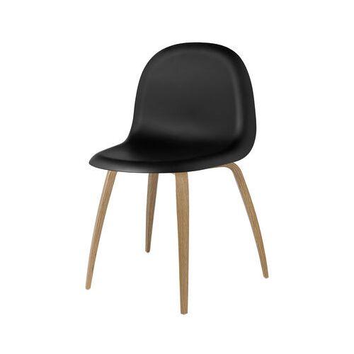 Gubi 3D Stuhl 4 Beine - HiRek-Schale - Gubi - Schwarz