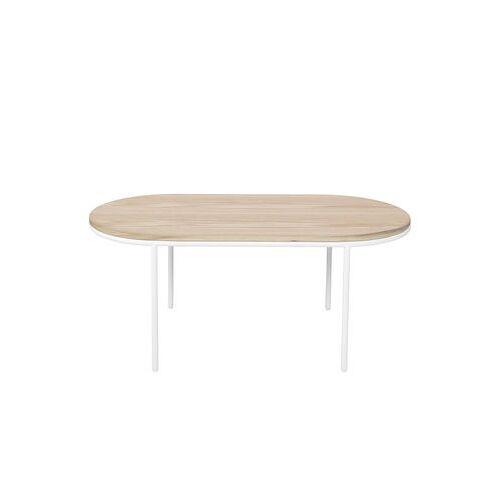 Bloomingville Couchtisch / Holz - 110 x 55 cm - Bloomingville - Weiß,Eiche natur