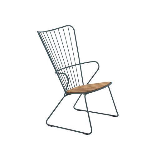 Houe Paon Lounge Sessel / Metall & Bambus - Houe - Tannengrün,Bambus Natur