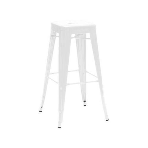 Tolix H Barhocker lackierter Stahl - H 75 cm - Tolix - Weiß glänzend