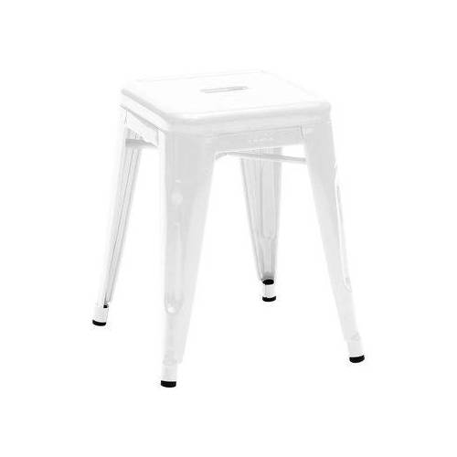 Tolix H Stappelbarer Hocker lackierter Stahl - H 45 cm - Tolix - Weiß