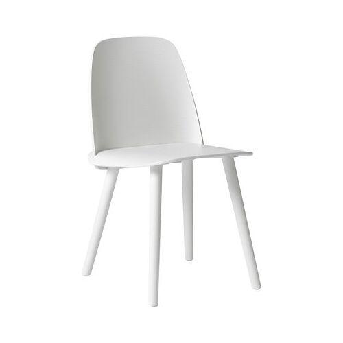 Muuto Nerd Stuhl / Holz - Muuto - Weiß