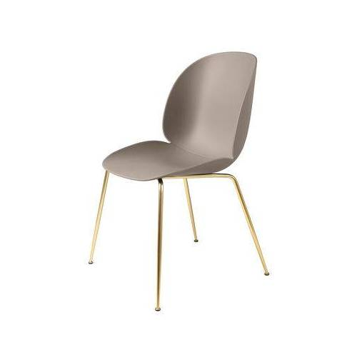 Gubi Beetle Stuhl / Gamfratesi - Stuhlbeine Messing - Gubi - Beige,Messing