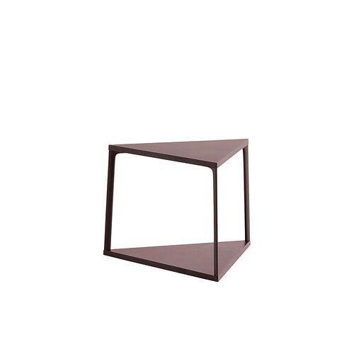 Hay Eiffel Beistelltisch / dreieckig - L 52 cm x H 38 cm - Hay - Dunkler Ziegelstein