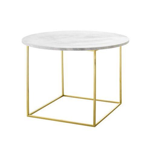 Bloomingville Eva Couchtisch / Marmor - Ø 60 cm - Bloomingville - Weiß,Gold